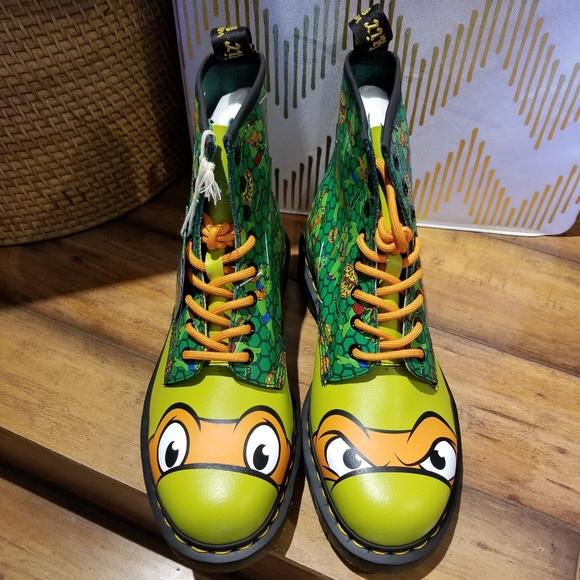 dr martens shoes dr martens tmnt mikey boots poshmark